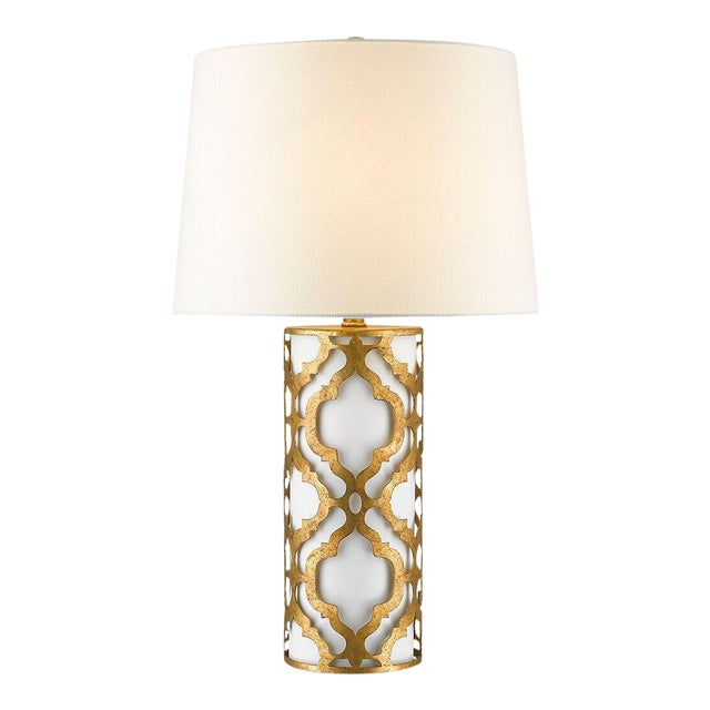 Contemporary Arabella Gold Table Lamp For Sale - Image 9 of 10