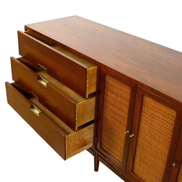 American of Martinsville Walnut Dresser Sideboard - Image 3 of 8