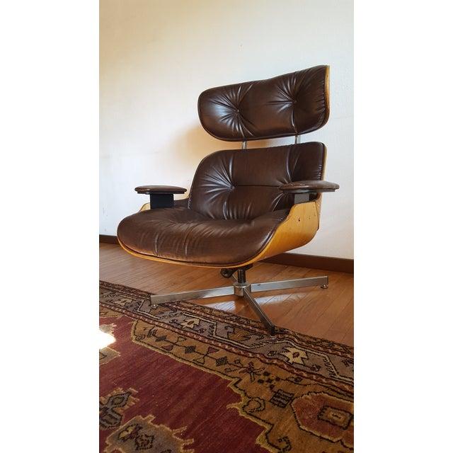Vintage Herman Miller Eames Era Style Chocolate Selig Plycraft Lounge Chair - Image 11 of 11