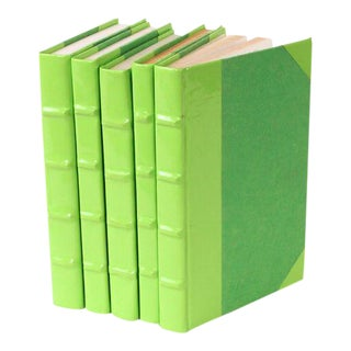 Patent Leather Lime Green Books - Set of 5 For Sale