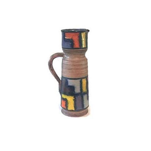 Modernist Fratelli Fanciullacci Mid-Century Ceramic Pitcher - Image 5 of 5
