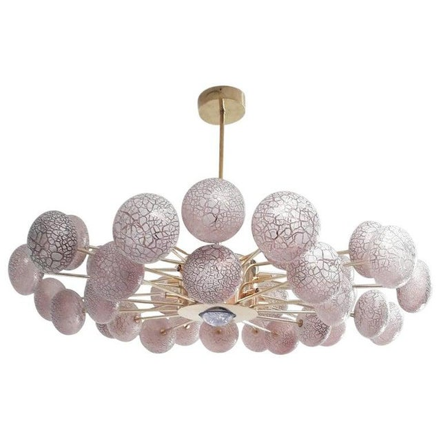 Crackled Orbs Chandelier by Fabio Ltd For Sale - Image 10 of 12