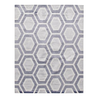 Modern Bamboo Silk Hand Knotted Area Rug - 9' X 12' For Sale