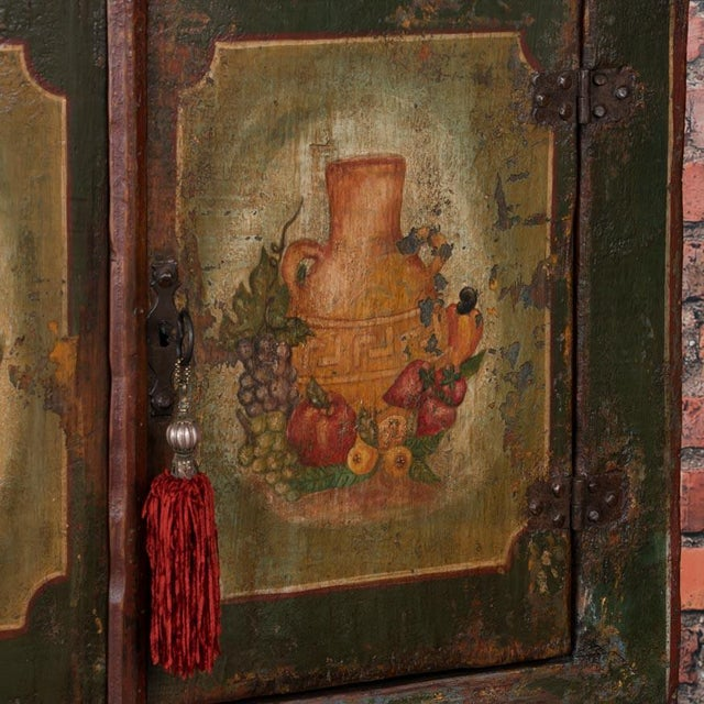 20th Century Traditional Two Door Hand Painted Cabinet For Sale - Image 6 of 9