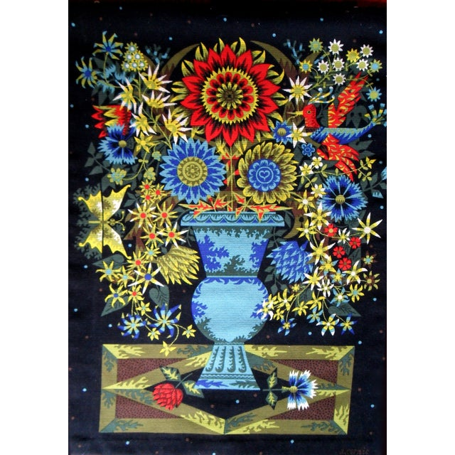 Aubusson Mid-Century Tapestry by Alain Cornic - Image 8 of 8