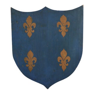 Vintage French Painted Family Shield