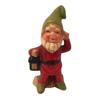 Woodland Gnome W/ Lantern Figure For Sale