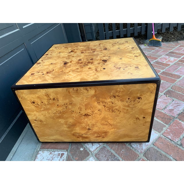 1970s 1970's Mid-Century Modern Burlwood Coffee Table For Sale - Image 5 of 6