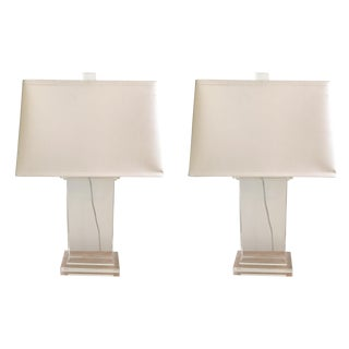Restoration Hardware Crystal Pier Lamps - A Pair