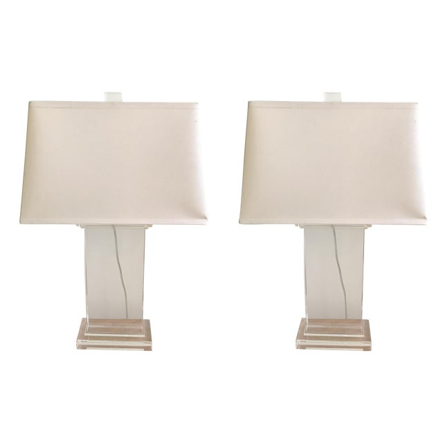 Restoration Hardware Crystal Pier Lamps - A Pair - Image 1 of 8