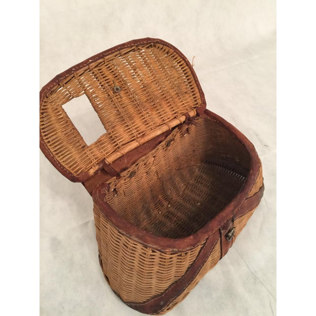 Antique Woven Creel Basket - Image 3 of 7