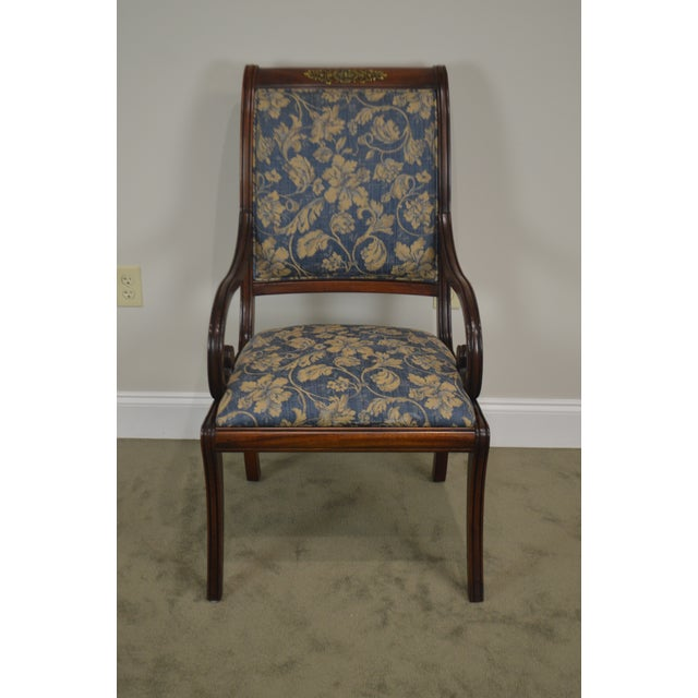 Henredon Natchez Collection Set of 10 Mahogany Regency Style Dining Chairs For Sale - Image 10 of 13