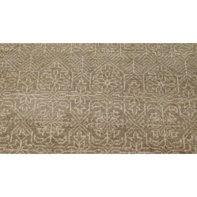 This hand-knotted luxury rug features an intricate allover pattern. Reinvent your living space by bringing in the magical...