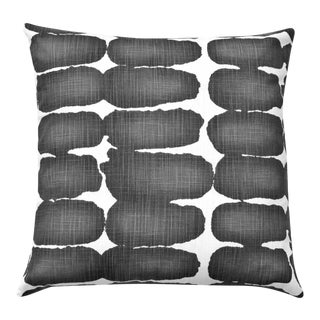 Ink Shibori Mid-Century Modern Accent Pillow For Sale