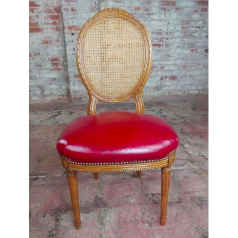 Louis XVI Seat Dining Chairs - Set of 8 For Sale - Image 9 of 10