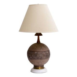 Raymor Italian Ceramic Sphere Lamp For Sale