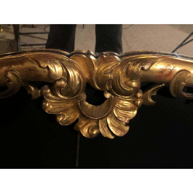 Glass 19th Century Gilt Mirror Wall or Console Mirror, French Finely Carved For Sale - Image 7 of 12