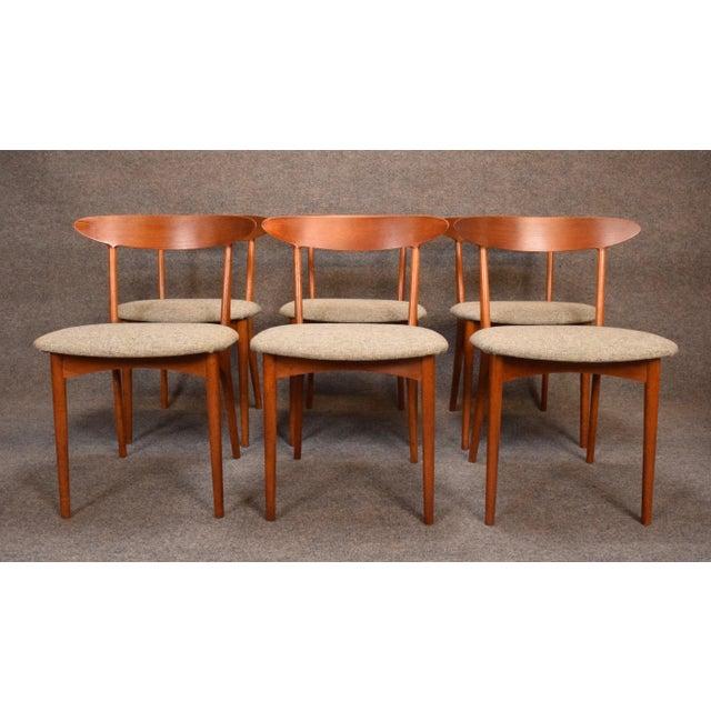 Danish Modern Vintage Kurt Ostervig Danish Modern Teak & Oak Dining Chairs - Set of 6 For Sale - Image 3 of 11