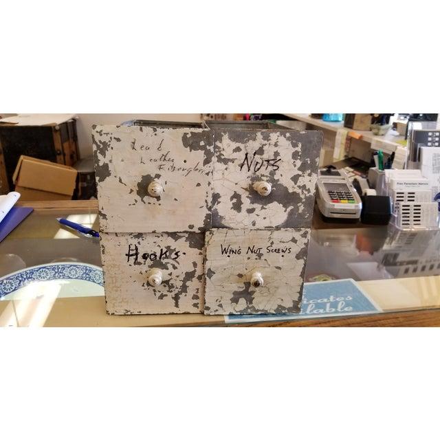 Vintage Industrial Primitive Metal Drawer Organizer Unit For Sale In San Francisco - Image 6 of 10