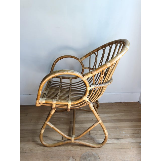 Boho Chic 1960s Boho Chic Franco Albini Style Bamboo Lounge Chair For Sale - Image 3 of 7