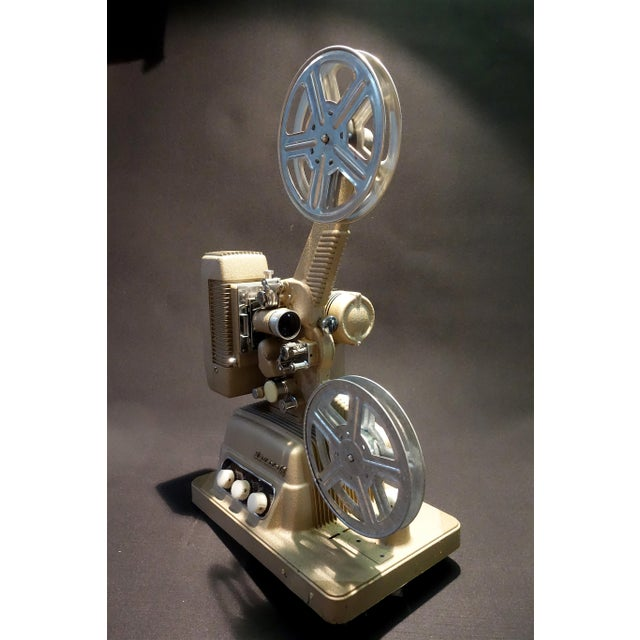 Art Deco Vintage 16mm Movie Projector Circa 1954 in an Impressive Large Size, by Revere Camera Company For Sale - Image 3 of 10