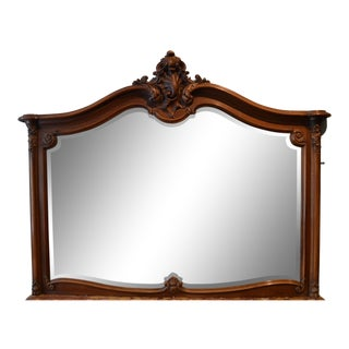 Antique French Walnut Mirror For Sale