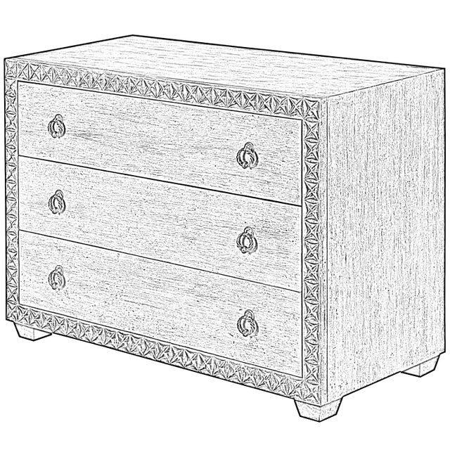 Sarreid Mesa Chest, Working White For Sale - Image 11 of 13