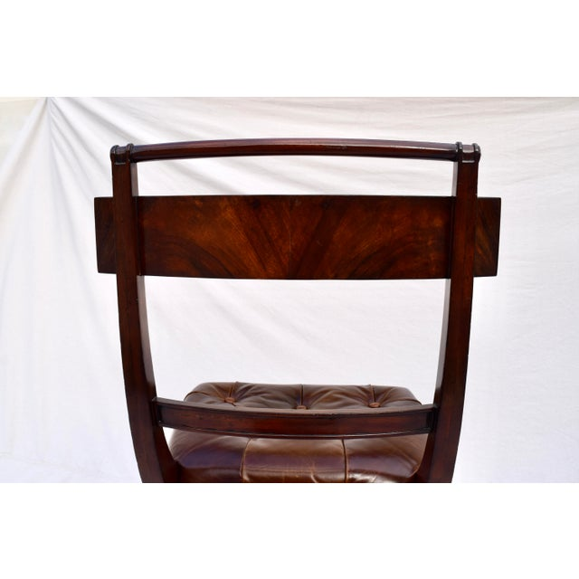Henredon Hanover Tufted Leather Dining Chairs, Pair For Sale - Image 10 of 13