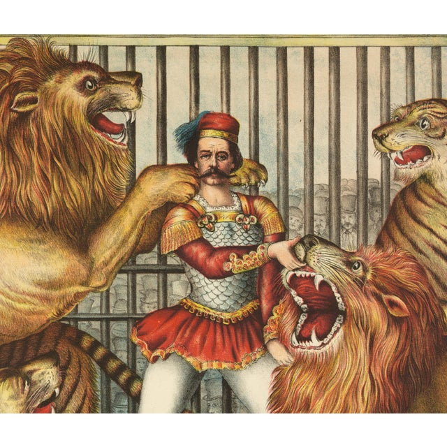 19th-C. The Lion Tamer Circus Print - Image 2 of 3