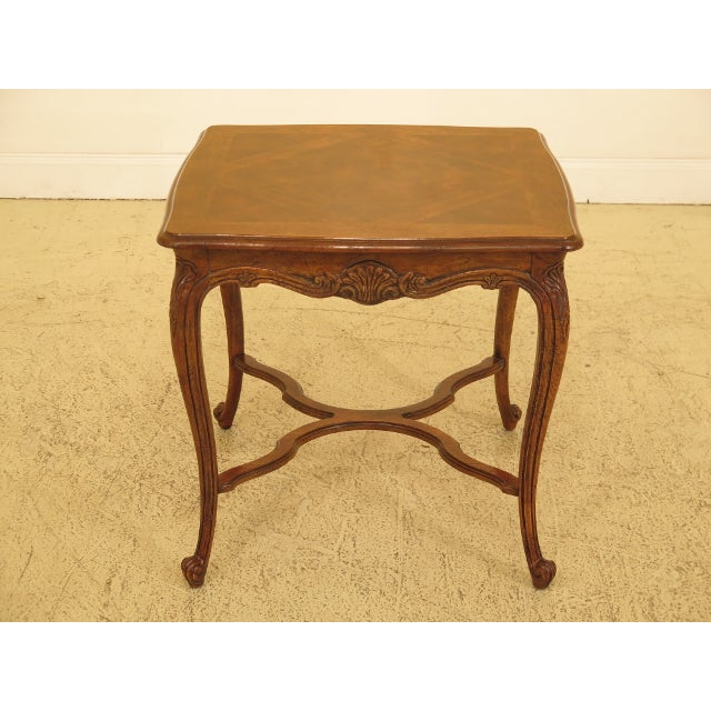 Brown Drexel - Heritage French Style Walnut Occasional Table For Sale - Image 8 of 8
