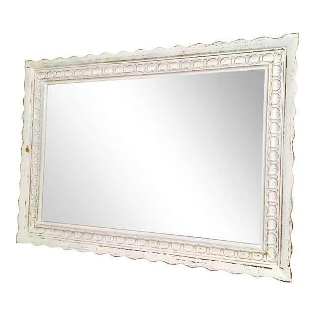Shabby Chic White Mirror - Image 1 of 6