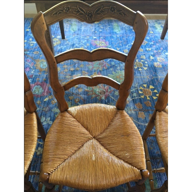 Brown Pierre Deux French Country Dining Chairs - 6 For Sale - Image 8 of 11