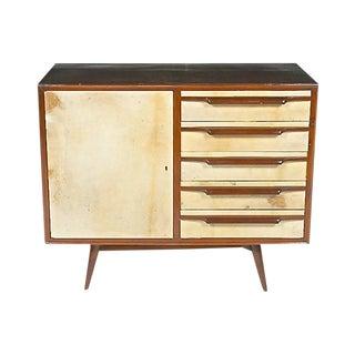 1960s Mid-Century Modern Parchment Server For Sale