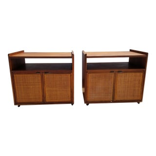 1950s Mid-Century Modern Florence Knoll for Founders Nightstands - a Pair