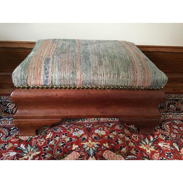 Antique Mahogany Footstool - Image 3 of 5