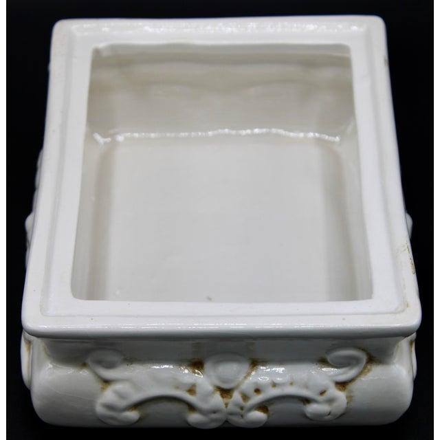 Ceramic Italian Ceramic Fruit Lidded Box For Sale - Image 7 of 11