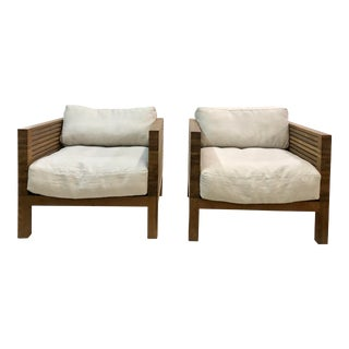 Modern Resource Decor Accent Chairs - A Pair For Sale