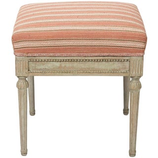 Early 19th Century Provincial Gustavian Stool For Sale