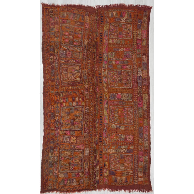 1960s Traditional Orange Wool Iraq Kilim Rug For Sale In Los Angeles - Image 6 of 6