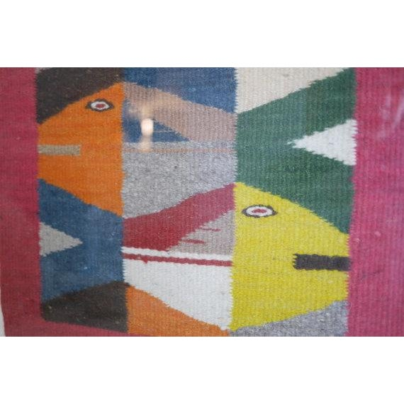 Vintage Oaxaca Fish Tapestry - Image 5 of 6