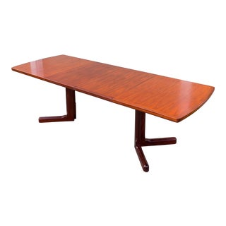 Danish Modern Brazilian Rosewood & Mahogany Dining Table