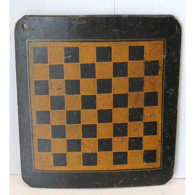 19th Century Original Painted Checkers Game Board - Image 2 of 6