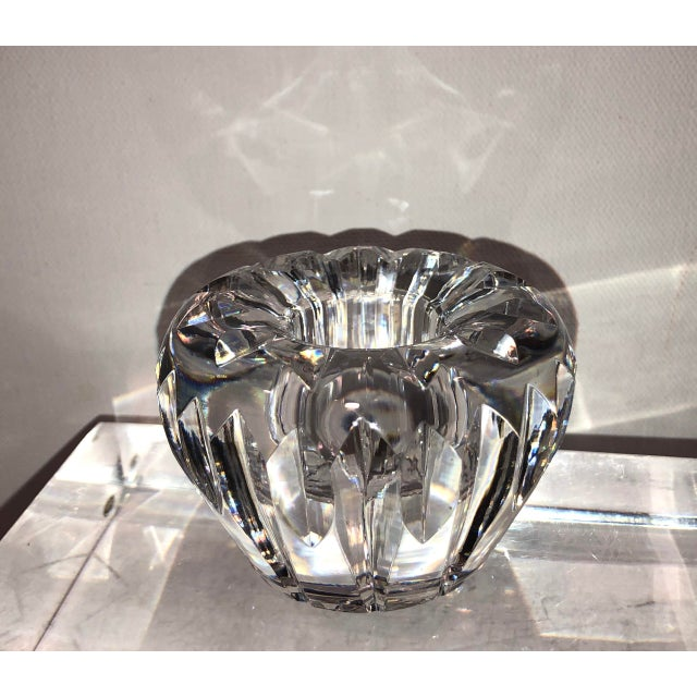 Late 20th Century Vintage Waterford Candle Holder Cut Crystal Light Catching For Sale - Image 5 of 5