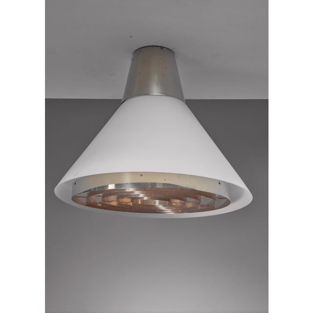 Mid-Century Modern Lisa Johansson-Pape ceiling lamp for Orno, Finland For Sale - Image 3 of 5