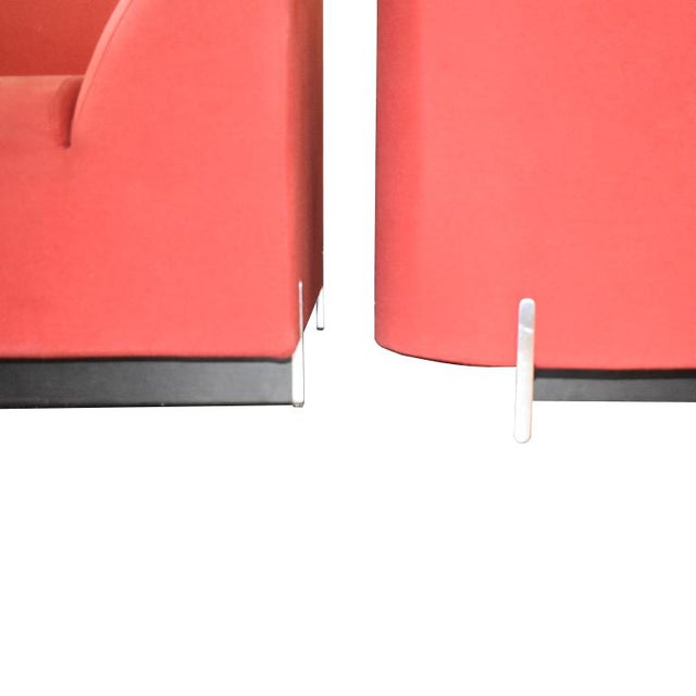 Late 20th Century Eric Jourdan for Ligne Roset Snowdonia Upholstered Armchairs - a Pair For Sale - Image 6 of 11