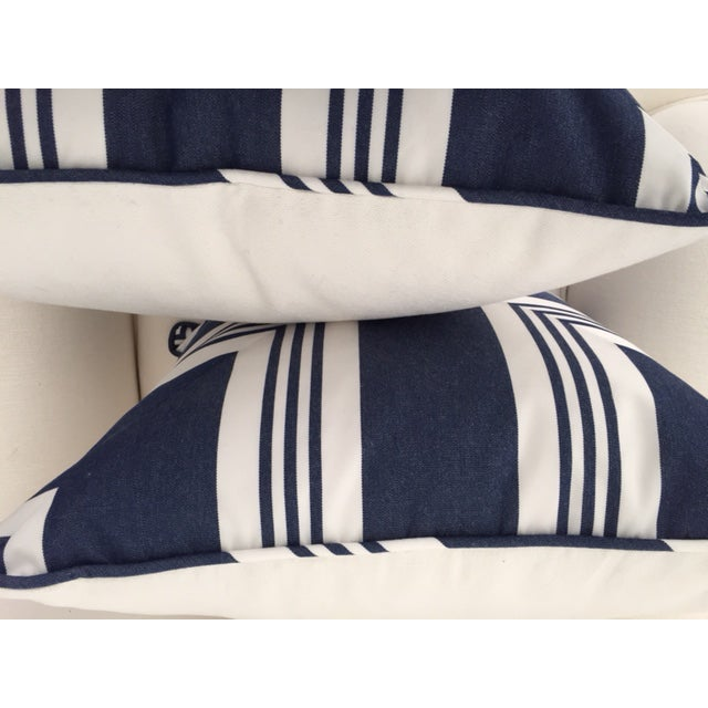 Nautical Ralph Lauren Nautical Striped Pillow With Feather/Down Insert For Sale - Image 3 of 4