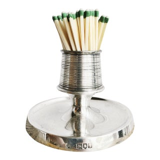 1904 English Sterling Silver Match Striker For Sale