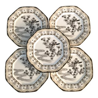 Vintage Mikasa Narumi Japan Evening Mist Serving Plates - Set of 5 For Sale