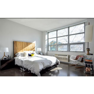 Rustic Reclaimed Peroba Wood Platform Bed With Tall Headboard Parati by Environment Furniture Preview