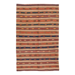 "Apadana - Fine Vintage Striped Turkish Kilim, 5' x 7'8"" For Sale"